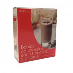 Bebida de cereales con chocolate y platano