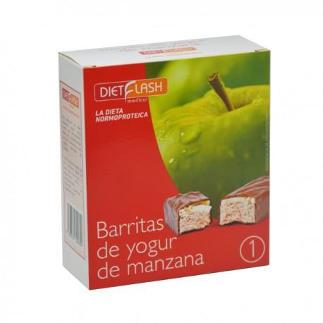 Barritas de yogur y manzana