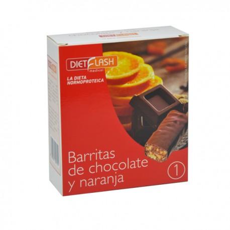 Barrita de chocolate y naranja